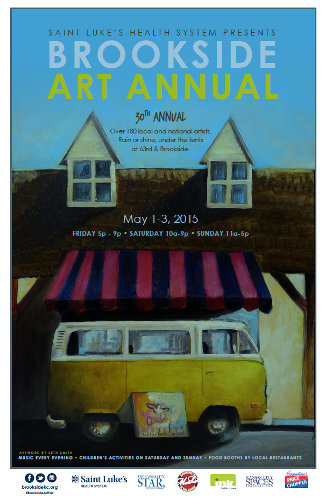 2015 Brookside Art Annual Poster
