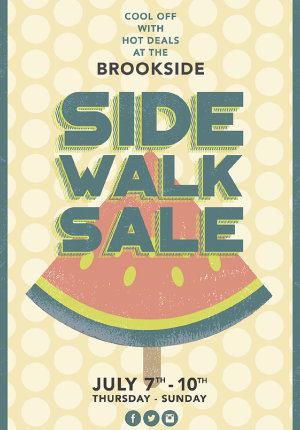 Brookside Side Walk Sale