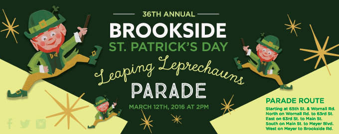 The 36th Annual Brookside St. Patrick's Day Warm-up Parade