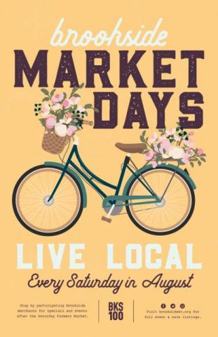 Brookside Market Days poster