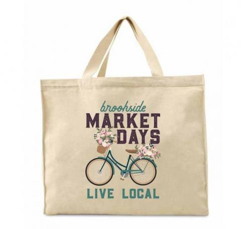 Brookside Market Days tote bag
