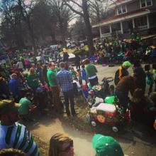 Brookside St Patrick's Parade Crowd
